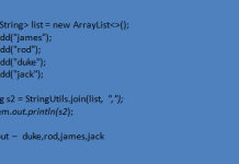 StringUtils join() Example in Java