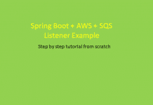 Spring Boot AWS SQS Listener Example