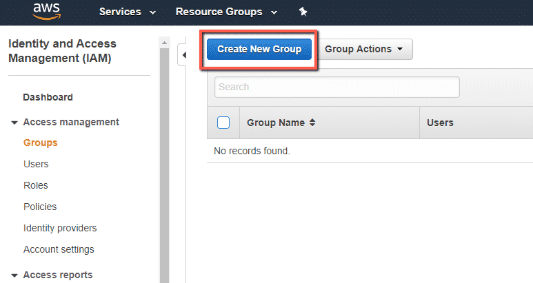 How to create users and groups in AWS